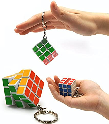 Toys Bhoomi Pocket Puzzles Key-Chain Cube 1 Piece - Multi Color