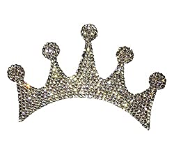 Car Bumper Rhinestone Crown Sticker