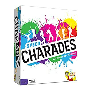 Charades Party Game – Speed Charades Board Game – Fast-Paced Party Game - Perfect for Groups and Family Game Nights