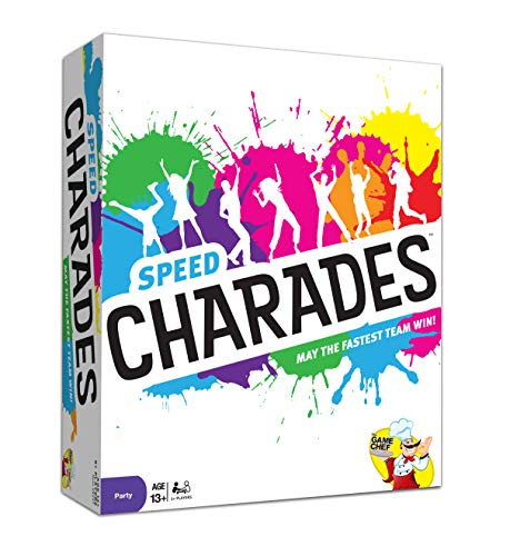 Charades Party Game - Speed Charades Board Game - Fast-paced Family Games - Perfect for Groups and Game Nights (Best Board Games For Groups Of Adults)