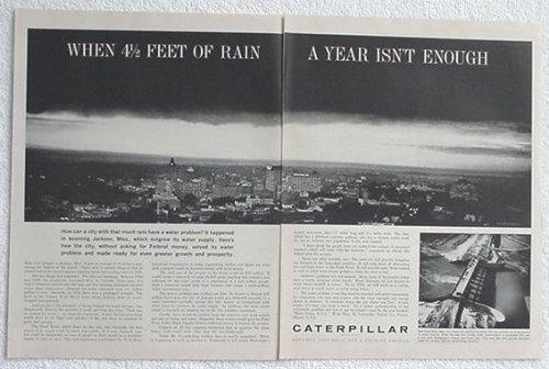 1962 Caterpillar - 1962 Caterpillar Pearl River Dam Jackson MS 2-Page Original Print Ad (2567)