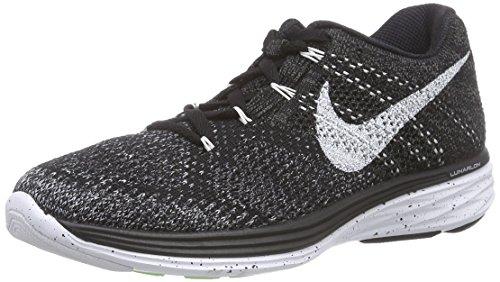 NikeFlyknit Lunar 3 - Zapatillas de correr mujer Negro (Black / White-Mdnght Fog-Wlf Gry)