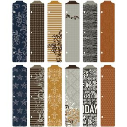 Project Life Designer Dividers + Label Stickers - Cinnamon Edition (Becky Dividers Project Higgins)
