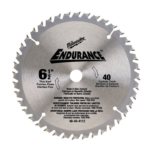 (Milwaukee 48-40-4112 6-1/2-Inch 40 Tooth Finish Saw Blade)