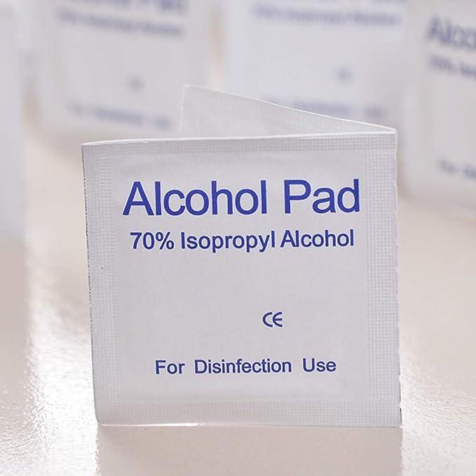 BESTOMZ Toallitas de Alcohol Desechables Alcohol Pads Toallitas de Limpieza Heridas al Aire Libre 100 Piezas: Amazon.es: Hogar