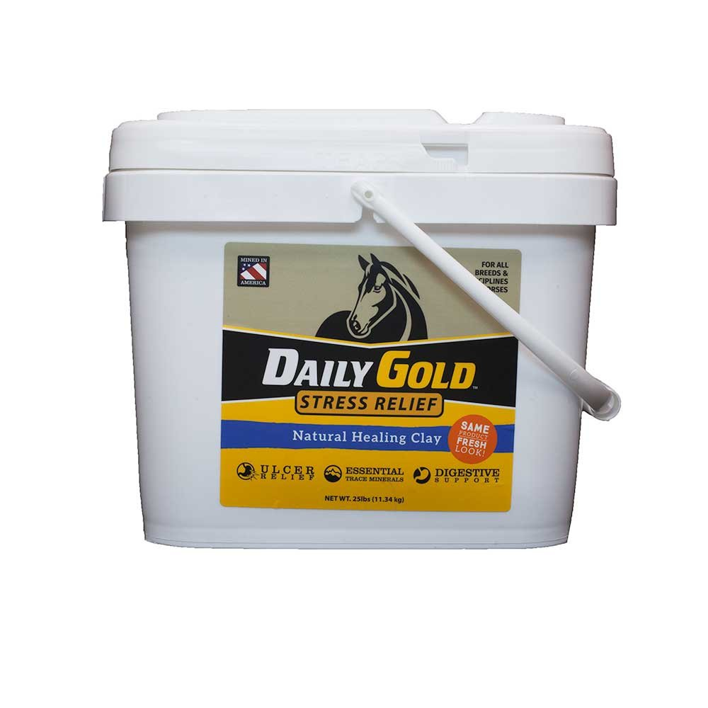 Redmond Daily Gold Stress Relief, Natural Healing Clay for Gastric Ulcers in Horses (25 LBS) by REDMOND