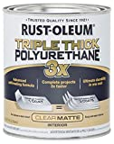 Rust-Oleum 302736 Triple Thick Polyurethane, Matte, 32 oz, Clear