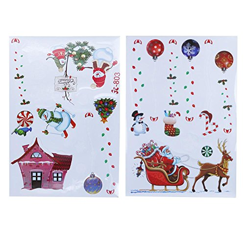Mikolot Christmas Decoration Colorful Removeable Window Glass Wall Stickers(JC-803) ()