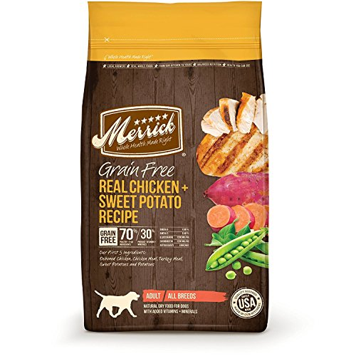 Merrick Grain Free Real Chicken & Sweet Potato Dry Dog Food, 12 lb.