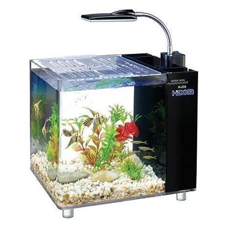 Hidom Mini escritorio Acuario tanque peces 15 litros con filtro y bomba de agua: Amazon.es: Productos para mascotas