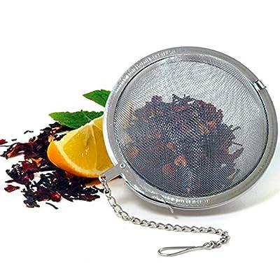 """Stainless Steel Mesh Tea Ball Infuser Locking Strainer Teakettles Diam 2.5"""" New"""