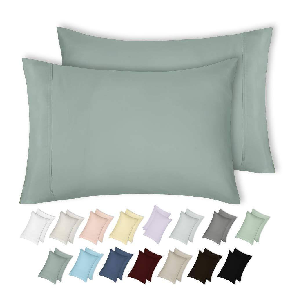 Green Sage King Pillowcases Pillowcases Pillowcases 400 TC 100