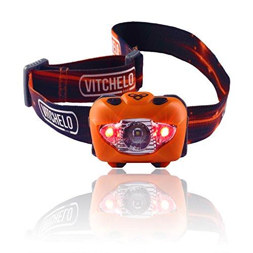 VITCHELO V800 Headlamp. Waterproof, Long Battery Life ...