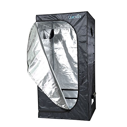 """51MMaRq1 %2BL - Quictent SGS Approved Eco-friendly 24""""x24""""x48"""" Reflective Mylar Hydroponic Grow Tent with Heavy Duty Anti-burst Zipper and waterproof Floor Tray for Indoor Plant Growing 2'x2'"""