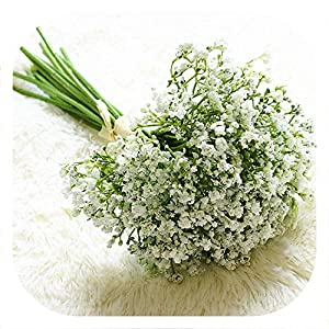 Memoirs- 16Pcs Artificial Flowers Baby's Breath Fake Flower Gypsophila for Wedding Home Fall Decoration Plastic Flowers Bouquet 80