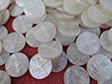25pcs 22mm Genuine MOP Shell ,Pearl Shell Virgin Mary cross round coin Cameo Caved cabochons jewelry beads