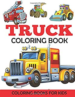 Truck Coloring Book Kids With Monster Trucks Fire Dump