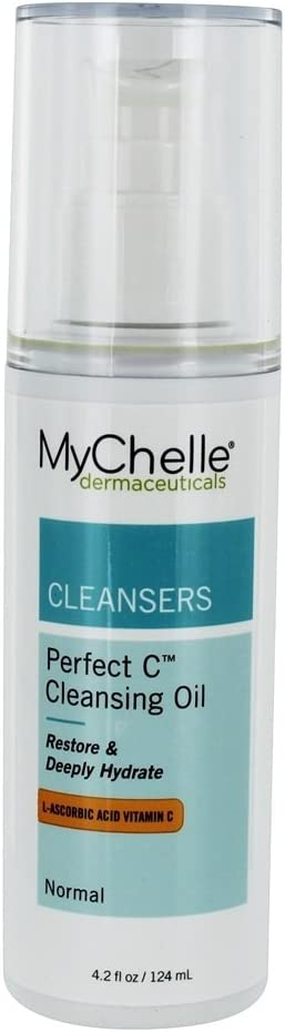 MyChelle Perfect C Cleansing Oil, Hydrating Face Wash with L-Ascorbic Acid, Baobab Oil, and Tamanu Oil, 4.2 fl oz