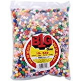 Darice 0726-34 Bag of Pony Beads, 9mm, Multicolor Opaque
