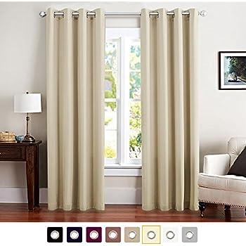 vangao room darkening draperies thermal insulated solid grommet top window blackout