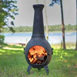 The Blue Rooster CAST Aluminum Butterfly Style Wood Burning Chiminea in