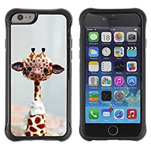 Jordan Colourful Shop@ Funny Friendly Giraffe Rugged hybrid Protection Impact Case Cover For iPhone 6 Plus CASE Cover ,iphone 6 5.5 case,iPhone 6 Plus cover ,Cases for iPhone 6 Plus 5.5