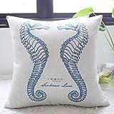 Etaovip Beautyfull Retro Cotton Blend Home Decorative Pillow Cover Cotton Standard Size Pillow Cases ( 16*16 )