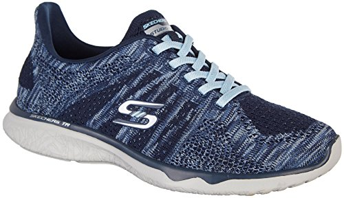 Skechers Studio Burst Edgy Womens Slip On Sneakers Navy/Light Blue 7 pywu9O8