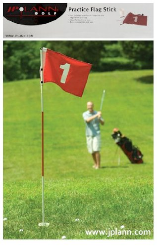 6' Practice Flag Stick for Golf and Recreation by JP Lann by JP Lann