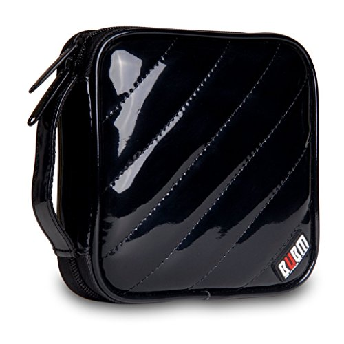 BUBM PU Smooth Leather Cover 32 Disc Case CD DVD Wallet Storage Organizer Travel Bag (Black) by BUBM (Image #5)