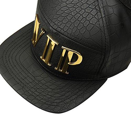 hip VIP de de en moda piel estilo gorra colgante sintética deportes mcsays béisbol chapado Snapback negro sombreros oro hop sombrero ajustable 5xpqfw7I