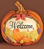 "8"" Festive ""Welcome"" Thanksgiving Pumpkin Table Top Decoration"