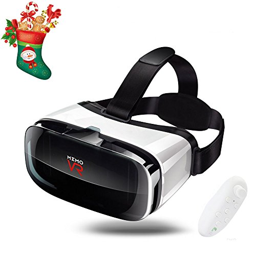 3D VR Adjustable Headset with Remote Controller 360 HD Virtual Reality Goggles Glasses for VR Games& 3d Movies Eye Care System for IOS and Android Smartphones Fit for 4.5-6.3 In. - Is What For Pd Stand