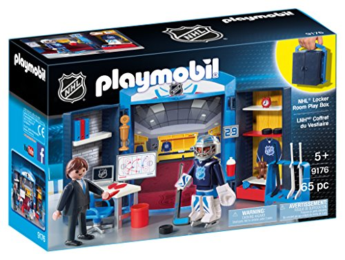 (PLAYMOBIL NHL Locker Room Play Box)