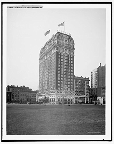 16 x 20 Ready to Hang Canvas Wrap The Blackstone Hotel Chicago Ill 1915 Detriot Publishing 84a
