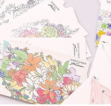 Amazon.com: Coloring Greeting Cards, Set of 12 Elegant Cards to ...
