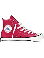 Converse Unisex Chuck Taylor Hi Basketball Shoe (3.5 Men 5.5 Women, Red) (Red, 6.5 D(M) US)