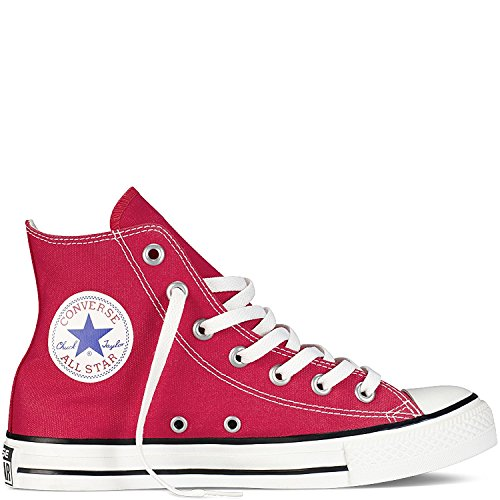 Converse Unisex Chuck Taylor All Star High Top Sneakers Black/White (Red, Red)