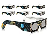 Solar Eclipse Glasses CE and ISO Certified - Safe Solar Viewing - Viewer and Filter - Made in USA - Jupiter (6 Pack)