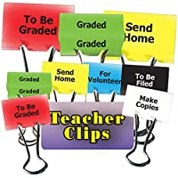 Top Notch Teacher Products TOP2302 Things To Do Teacher Clips 2In 6Pk