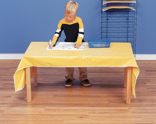 Creativity Street Jumbo Messy Mat, 38 x 80 Inches, Yellow