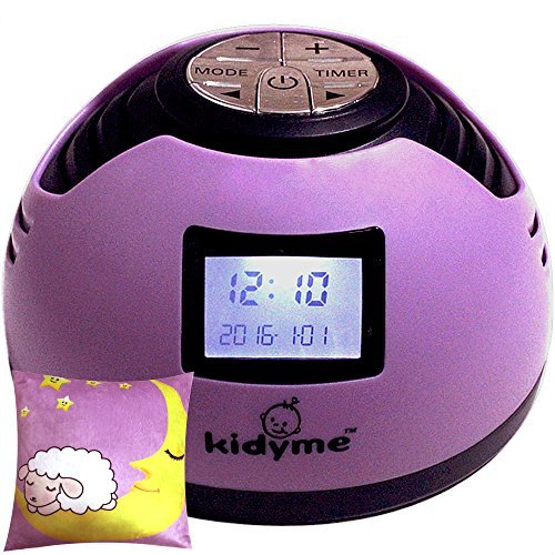 Kidyme™ Baby Noise Maker Machine Plus Pillow Gift Set - White Noise + 8 Other Soother Sleep Sound Effects - Plus Bonus 12