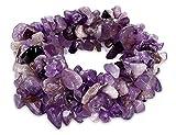 Amethyst/Turquoise/Rock Crystal Bracelet Quartz Healing Chakra Crushed Gemstone Chips Stretch Strand