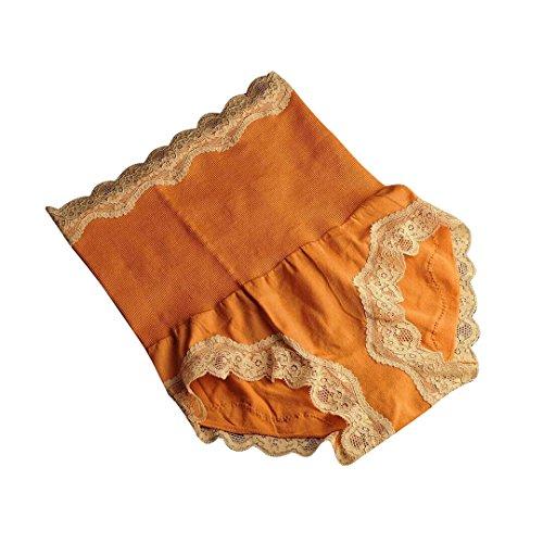 Taille Sous Vêtement Sculptante Culotte Slip Orange Dentelle Fille Haute Acvip Femme Pour wfIqIp