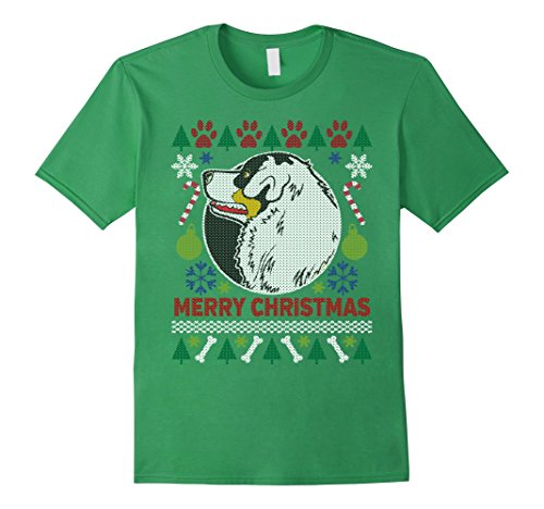 Men's Australian Shepherd Dog Breed Owners Ugly Christmas T-shirt
