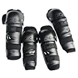 Black Powersports Adults Fashion 4Pcs Kit Knee and Elbow Shin Guards Gear for Motorcycle, Motobike, Dirtbike, Motocross, Mootobike, Mountain Bike, Off Road Bike, Street Bike, Sportbike Riding Body Armor Fit For KAWASAKI NINJA 650R 2009-2011