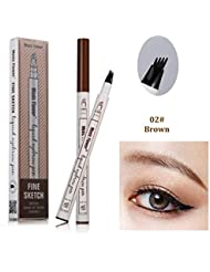 Tattoo Eyebrow Pen with Four Tips Long-lasting Waterproof...