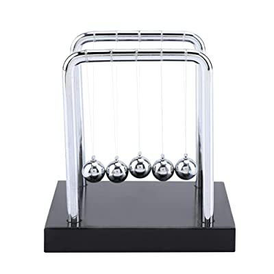 Balance Balls Toy, Newton's Cradle Balance Steel Balls Physics Science Pendulum Ornaments Gift for Home Ornament, study office Desk Table Decor.: Office Products