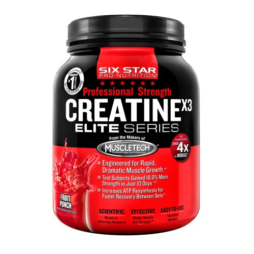 Six Star Professional Strength Creatine, Fruit Punch, 2.5-Pound