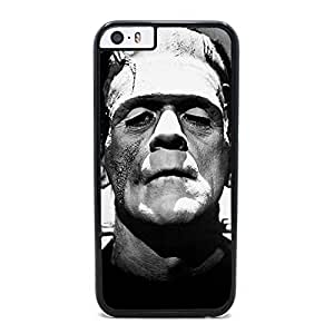 Insomniac Arts - Frankenstein's Monster, Vintage Horror Movie - Case for iphone 5s, Black Plastic Cover